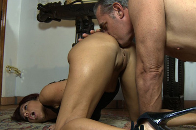Taste of pleasant anus hole 93. She waits on all fours, back arched, and her juicy anal waiting for a deep smothering. He crawls to her, getting a taste of her lovely anal hole.